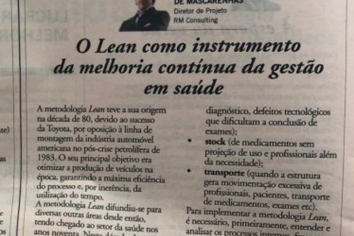 Lean as an instrument for continuous improvement in health management